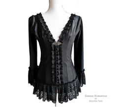 Blouse Papillon ribbed, victorian blouse, steampunk noir, edwardian, Somnia Romantica by Marjolein Turin