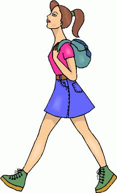 Walking Girl Clipart Girl clipart Girl Clip art