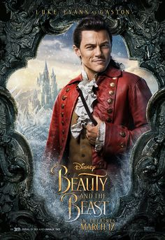 Luke Evans from Beauty and the Beast Character Posters  The actor appears as Gaston.