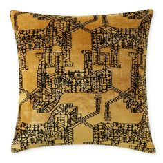 Made of supremely soft velvet jacquard, our pillow cover features a bold, geometric lion motif that's impossible to ignore. The contrasting hues and luxurious hand provide rich layering possibilities for modern spaces of all stripes. Applique Pillows, Hand Applique, Velvet Pillows, Linen Pillows, Geometric Lion, Patio Pillows, Decorative Pillow Covers, Williams Sonoma, Gourmet Foods