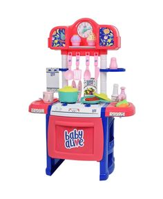 Baby alive doll kitchen is the perfect little kitchen for new and upcoming chefs Little chefs can prepare the food using the interactive stovetop with lights and sounds, oven, and real working water pump. Baby alive doll kitchen also comes with 21 kitchen accessories. Baby Doll Nursery, Baby Girl Toys, Toys For Girls, Baby Baby, Baby Alive Doll Clothes, Baby Alive Dolls, Toddler Toys, Kids Toys, Doll Toys