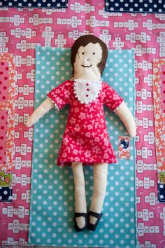 Doll for Giant Dollhouse Pillow