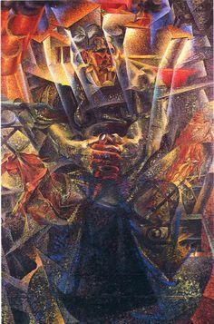 ARTE FUTURISTA: Materia - Umberto Boccioni - 1912-13. Collezione Gianni Mattioli, deposito temporaneo Venezia, Collezione Peggy Guggenheim.