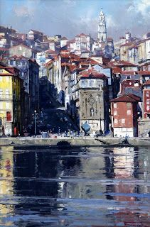 ARMANDO AGUIAR: Arquivo 1 - Óleos - Margens e Marinhas Places In Portugal, Beyond Beauty, European Travel, Indian Art, Times Square, Beautiful Places, 1, Country, Painting