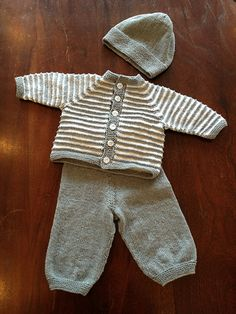 Best 12 Ravelry: Mille and Bertram pattern by Hanne Pjedsted Baby Boy Knitting Patterns Free, Baby Cardigan Knitting Pattern, Knitted Baby Cardigan, Knit Baby Sweaters, Baby Clothes Patterns, Baby Knitting Patterns, Baby Patterns, Free Knitting, Knitted Baby Outfits