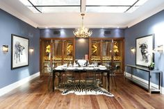 Natalie and Gian-Franco Cencelli, owners of bespoke property company Fornacelli, talk us through their designer Lion House. The super stylish dining room Fulham, House Prices, Home And Family, Dining Room, Ceiling Lights, Interior Design, Basements, Bespoke, Inspiration