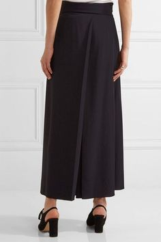 The Row - Skannt Belted Pleated Wide-leg Pants - Midnight blue - US10