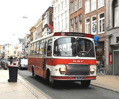 LAB, Leeuwarden bus 17 een DAF-Smit Joure in 1968, later FRAM 608 Grey Dog, Busses, Cars And Motorcycles, Netherlands, Trucks, Transportation, Van, Public, Vehicles