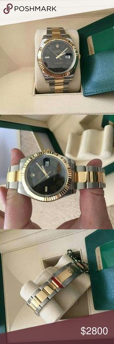 Rolex Presidential Black Dial 114060 Papers and Authentic Certificates are included 100% Authentic Brand new Used Slighty Text 404_602_2558 offers Rolex Accessories Watches