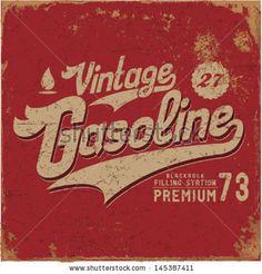 Vintage Gasoline & Motor oil | T-shirt Printing | - stock vector vintage gasoline motor oil .