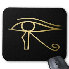 Egyptian Eye of Horus Mousepads, symbolizing the protection of the Egyptian god Horus. This design is available on other products in egyptiansymbols.peculiardesign.net . See other collections in peculiardesign.net