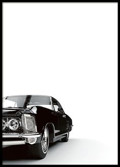 Glamorous poster with a photograph of a black car on a white background. Goes well with many of our other black and white prints or text posters combined into a wall collage. Looks great either hanging on the wall or standing on a shelf. www.desenio.com