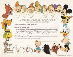 When Disney sold war bonds in the 1940s.   21 Completely Bizarre Moments In Disney History