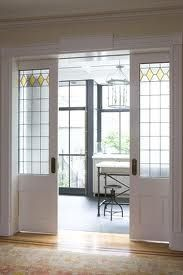 Sliding Pocket Doors Between The Dining Room And New Kitchen Extension Were Designed To Complement Original Leaded Glass Elsewhere In House