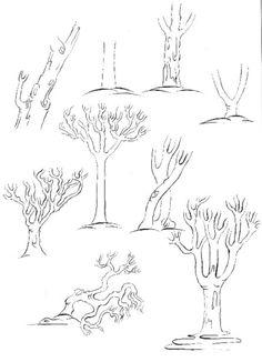 Cahide Keskiner - Minyatür Sanatında Doğa Çizim ve Boyama Teknikleri Ağaç gövdeleri ve dallandırılması