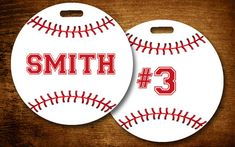 Baseball Luggage Tag Personalized Bag Kids Backpack Sports