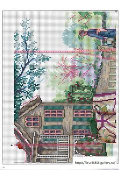 """Summer Breeze"" cross stitch pattern by Paula Vaughan.   Found on fleur55555.gallery.ru (top right)"