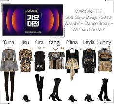 A fashion look for SBS Gayo Daejun 2019 from December 2019 by Marionette-Official. Discover outfit ideas for made with the shoplook outfit maker. How to wear ideas for Cute Borders and arrow Korean Fashion Dress, Kpop Fashion Outfits, Korea Fashion, Stage Outfits, Edgy Outfits, Retro Outfits, Cute Casual Outfits, Womens Fashion, Fashion Illustration Dresses