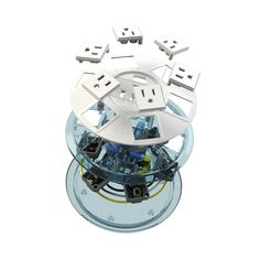 Power Strip, Ufo, New Product, Tabletop, Charger, Filters, Cord, Modern Design, Slim