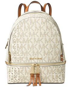 Michael Kors Vanilla Medium Rhea Backpack >>> To view further for this item, visit the image link.