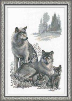 Wolves de RIOLIS - Premium Collection - Kit Broderie - Casa Cenina