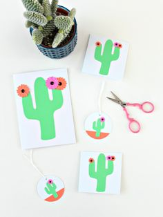 Moving along with my products and themes, today I'm showing you everything I have in the shop with saguaros. Why saguaros? Desert Botanical Garden, Craft Shop, Own Home, Party Time, Cactus, Paper Crafts, Diy Projects, Make It Yourself, Punch Needle