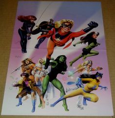 BLACK WIDOW STORM ROGUE MS MARVEL EMMA FROST DAZZLER SHE HULK POSTER SEXY MARVEL