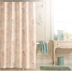 picture perfect floral shower curtain