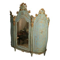 19th Century Venetian Painted Armoire | From a unique collection of antique and modern wardrobes and armoires at http://www.1stdibs.com/furniture/storage-case-pieces/wardrobes-armoires/