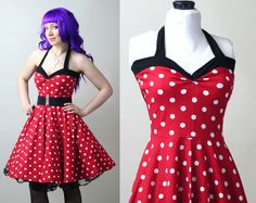 polka dot retro rockabilly Yvonne swing dress custom - smarmyclothes by smarmyclothes on Etsy https://www.etsy.com/listing/183485910/polka-dot-retro-rockabilly-yvonne-swing