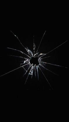 Apple Logo Window Dark Broken iPhone 8 Wallpapers