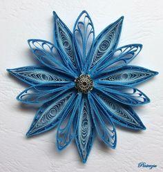 Quilling • modrý květ