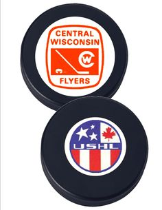 Central Wisconsin Flyers USHL Hockey Fun Puck  -- official weight 6oz, fun puck