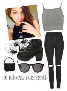 """""""Andrea Russett Inspired Outfit"""" by pointlessbeth ❤ liked on Polyvore featuring Topshop, Monki and Kate Spade"""