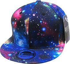 e1ce50b6823 Galaxy All Over Print Snapback Hat Cap Adjustable Fresh Prince Universe  Space