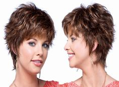 Layered hair is beautiful and classy and is a blessing to most women because it helps add the illusion of length and volume to your ha. Medium Layered Hair, Short Layered Haircuts, Layered Hairstyles, Short Hair With Layers, Short Hair Cuts, Short Hair Styles, New Hair, Salons, Wigs