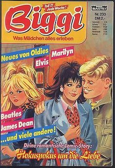 Biggi Nr.233 von 1987 mit Poster Elvis Presley - TOP Z1 BASTEI Comicheft