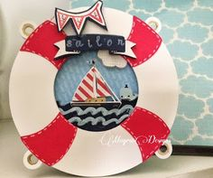 Sailor card made using Cricut cartridges: Life Is A Beach, Create a Critter & Fontopia.