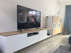 Living Room Tv Unit, Ikea Living Room, Interior Design Living Room, Living Room Designs, Attic Bedroom Designs, Tv Furniture, Home And Deco, Apartment Interior, Home Decor Kitchen