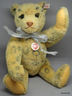 Steiff #Leopard #Teddy Bear Alpaca Plush 40cm 16in Ltd Ed 2008 Growler ID Button #Steiff AllOccasion