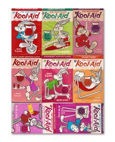 Bugs Bunny was Kool aid before the smiley face man! Vintage Advertisements, Vintage Ads, Vintage Food, Vintage Stuff, Vintage Items, Sweet Memories, Childhood Memories, Bug Juice, Kool Aid Man