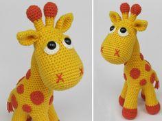 Crochet Tutorials – Giraffe Neli Häkelanleitung / Amigurumi – a unique product by DioneDesign on DaWanda Amigurumi Giraffe, Cactus Amigurumi, Mini Amigurumi, Crochet Amigurumi, Bead Crochet, Crochet Dolls, Crochet Baby, Cotton Crochet, Crochet Giraffe Pattern