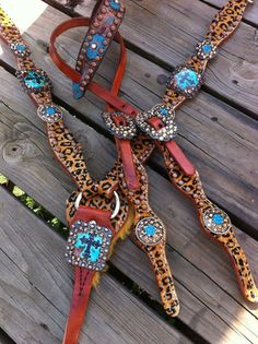 """Skinny""Turquoise Cross Concho Set"