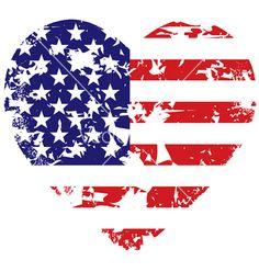 Grunge american flag heart background vector art - Download Glory ...