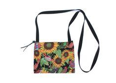 Sunflower Bird fabric mini crossbody bag perfect by Chiradesigns, $20.00