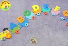 Activities For 2 Year Olds Daycare, Alphabet Activities Kindergarten, Creative Activities For Kids, Preschool Activities, Classroom Wall Decor, Classroom Walls, Class Decoration, School Decorations, Alphabet Letter Crafts