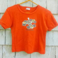 "FINAL$ 90s Beastie Boys Vintage Authentic Tiny Tee PRICE FIRM! Gotta love this vintage, authentic, hunter orange, cropped, Beastie Boys tiny tee from 1998! From their Hello Nasty tour on Aug. 22nd, 1998 in E. Rutherford, NJ at the Continental Airlines Arena! Shirt is in good vintage condition with some piling and fading, but nothing that doesn't add to vintage charm:) Chest is 18"" wide, 18"" long. Best suited for a size small - medium. 1990s tiny tee style crop top. Get this piece of music…"
