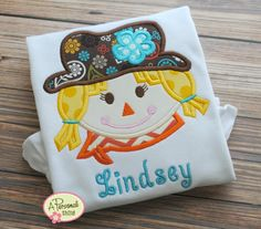 Girl Scarecrow Applique Shirt by APersonalThing on Etsy