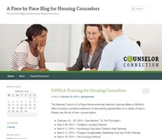 We're launching our Counselor Connection Blog... for the housing counseling community. Details at www.piecebypieceatlanta.org