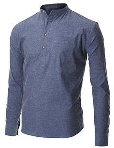 FLATSEVEN Men's Casual Mandarin Collar Popover Long Sleeve Henley Shirt (SH216) Blue, M FLATSEVEN http://www.amazon.com/dp/B00P51XWE0/ref=cm_sw_r_pi_dp_x.Vvub09KBGPJ
